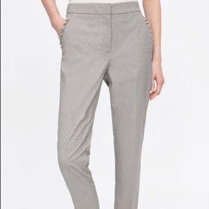 Zara Cigarette Pants with Ruffled Pockets